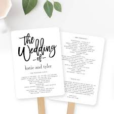 wedding program paddle fan template 23 free templates for wedding programs fully customizable