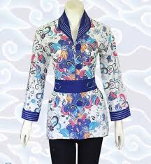 Baju Batik Batik 23 contoh model baju batik atasan terbaru 2018