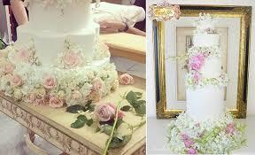 wedding cake flowers floral formal wedding cakes cake magazine