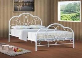 4ft bed alexis 4ft 4ft6 5ft white metal bed frame bedstead ebay
