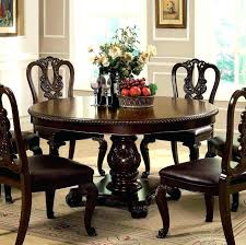 traditional round glass dining table round glass dining table for 6 ideaction co