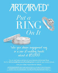 win a wedding ring win an engagement ring or wedding bands from artcarved