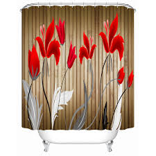 Environmentally Friendly Shower Curtain Bathroom Products Roses Beautiful Shower Curtain High Quality