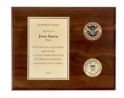 retirement plaque wording retirement plaque â 8â x 10â