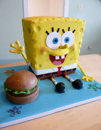 sponge bob cake spongebob cake spongebob cake covered in fondant with in flickr