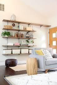 Wooden Wall Shelves Astounding Diy Shelves For Living Room Arranged Brown Wooden