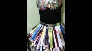 31 recycled magazine and cd dress youtube