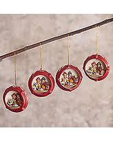 get the deal applique ornaments set of 6 peru