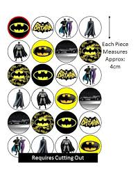 batman cake toppers batman new cupcake cake toppers edible rice paper 24 pieces per sheet