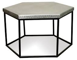 furniture hexagon coffee table ideas black and grey rustic metal
