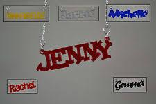 Acrylic Name Necklace Acrylic Name Necklace Ebay