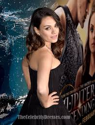 mila kunis black cocktail party dress u0027jupiter ascending u0027 la