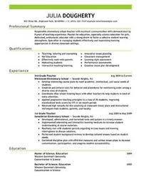 Sample New Teacher Resume by Examples Of Excellent Teacher Resumes Recentresumes Com