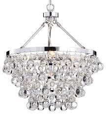 Crystal And Chrome Chandelier Glass 5 Light Luxury Contemporary