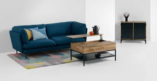 lomond lift top coffee table with storage mango wood and black