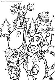 children give reindeer coloring pages hellokids