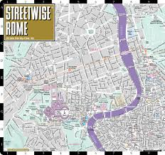 Brown Line Map Chicago by Streetwise Rome Map Laminated City Center Street Map Of Rome