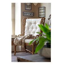 Occasional Chairs Watson Coastal Large Rattan Wing Back Dining Arm Occasional Chair