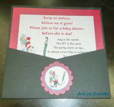Dr Seuss Baby Shower Invitation Wording - like the envelope idea dr seuss baby shower invitation sample