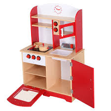 amazon com giantex wood kitchen toy kids cooking pretend play set