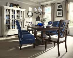 China Cabinet And Dining Room Set Trisha Yearwood Trestle Table Chairs U0026 China Cabinet 920 102