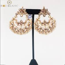 Buy Kundan Embellished Dangler Earrings Traditional Jewelry
