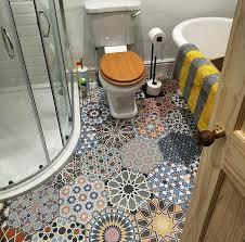 beautiful tile work on this bathroom floor interestingasfuck