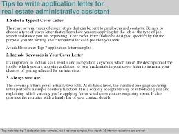 Realtor Job Description For Resume by Real Estate Administration Cover Letter