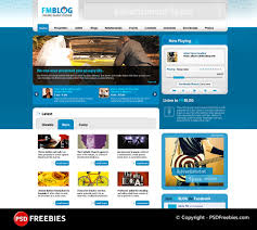 fm blog free psd template download download psd