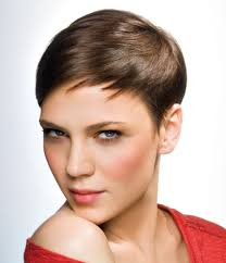 cropped hairstyles with wisps in the nape of the neck for women short gamine crop haircut with sharply tapered sides and flexibility
