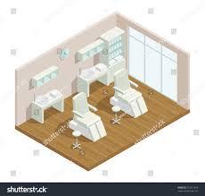beauty salon floor plans cosmetology beauty salon isometric interior composition stock