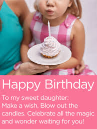 make a wish happy birthday wishes card for daughter birthday