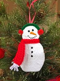 plaster snowman ornament youtube