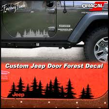 jeep sticker ideas jeep decal custom tree forest vinyl graphic door set a unique