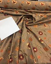 Silk Drapery Fabric By The Yard Floral Faux Silk Interior Craft Fabrics Ebay