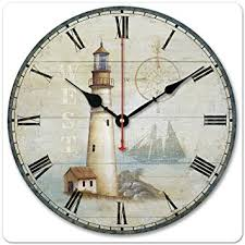 wood compass wall 12 30cm vintage lighthouse west compass ship wood