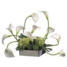 Silk Calla Lilies Artificial Flowers Silk Flowers Lily Arrangment Artificial Silk