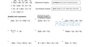 commutative property of addition and multiplication worksheet as