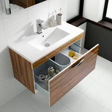 Slimline Vanity Units Bathroom Furniture by Hudson Reed Memoir Gloss Grey Wall Hung Vanity Unit 600mm