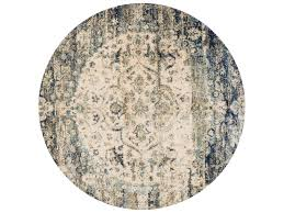 Blue Ombre Area Rug by Loloi Rugs Anastasia Af 06 Round Blue Ivory Area Rug