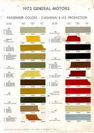 1972 chevelle paint charts 50 90