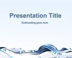 Water Powerpoint Templates free water conservation powerpoint template