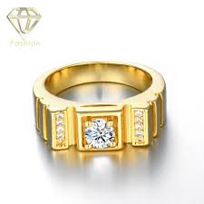 gold rings design for men 2017 engagement rings for men new design 4 prong setting cubic