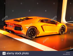 first lamborghini the new car prototype lamborghini aventador is presented on the