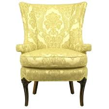 damask chair wing chair uncommon chair in silk and linen damask