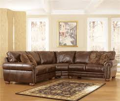 sofa cream leather sectional tufted sectional l sofa brown