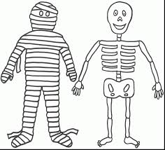 halloween skeleton coloring pages coloring pages