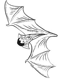 vampire coloring vampire bat