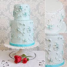 blue wedding cake ideas stylish eve