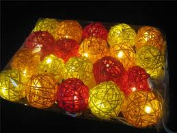 Battery Operated Light Strings by 20 Sunset Wicker Rattan Ball Battery Operated Led String Fairy